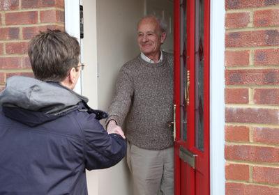 Neighbourhood Chaplains - welcomed at the door